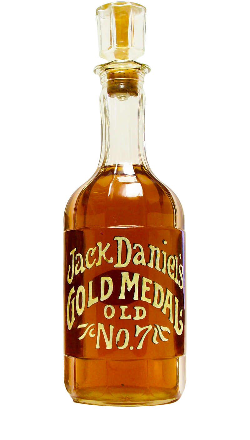 This decanter from 1971 is the 1st beautiful replica (2nd replica was in 2004) of the bottle originally produced by Jack Daniel back in 1904