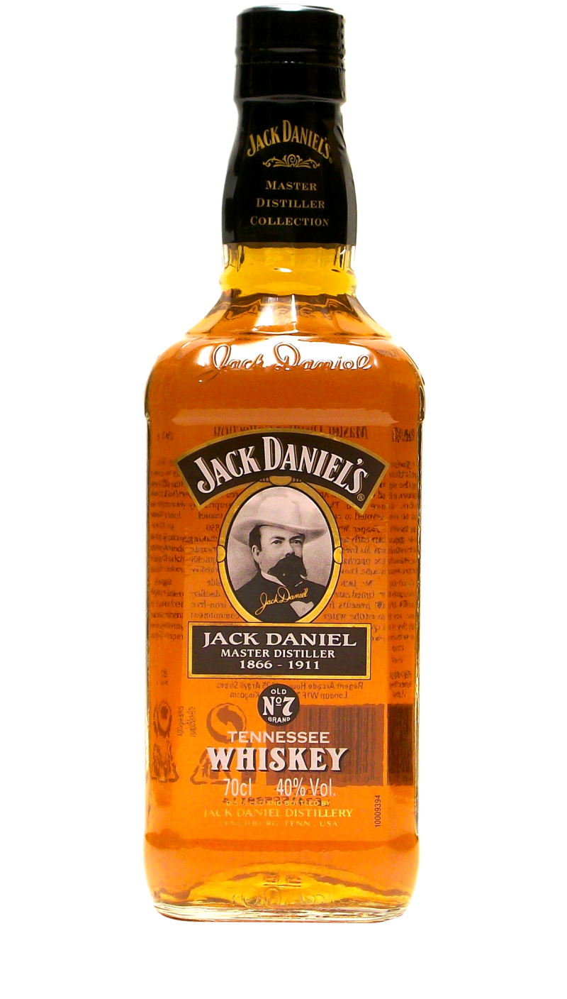 This 750ml Master Distiller bottle released only in the United Kingdom commemorated Jack Daniel as the first Master Distiller